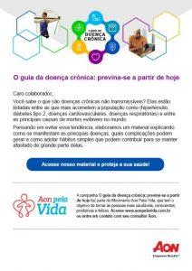 E-mail da Aon produzido pela Latinmed sobre e-book de doenças crônicas