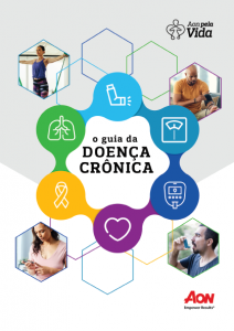 Capa de e-book da Aon produzido pela Latinmed sobre doenças crônicas
