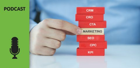 Peças com siglas ref. a marketing